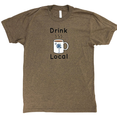 843 Shop Drink Local Coffee Tee - Coffee (Unisex)