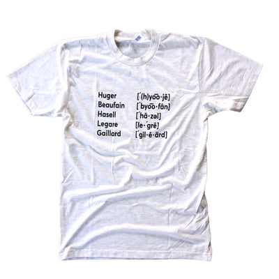 843 Shop Pronunciations Tee - Oatmeal (Unisex)