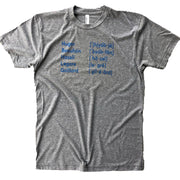 843 Shop Pronunciations Tee - Grey (Unisex)