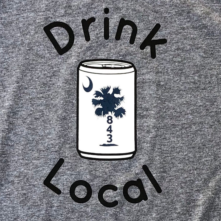 843 Shop Drink Local Beer Tee - Grey (Unisex)