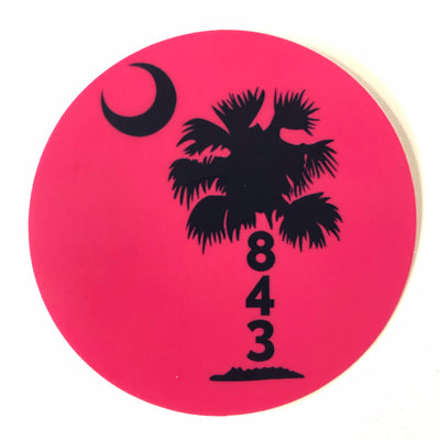 Pink 843 Palmetto Sticker