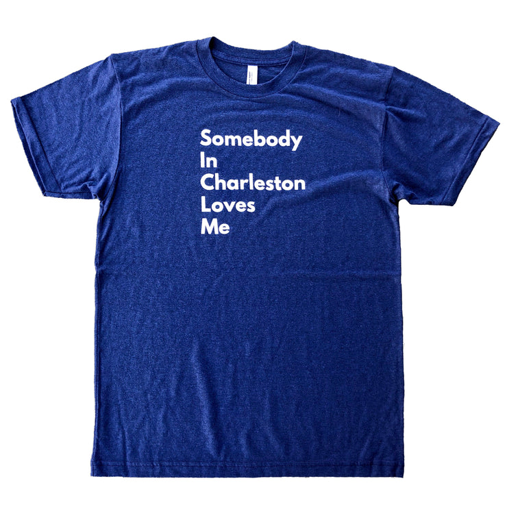 843 Shop Somebody in Charleston Loves Me Tee - Navy