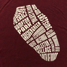 Load image into Gallery viewer, 843 Shop Peninsula Tee - Maroon (Unisex)