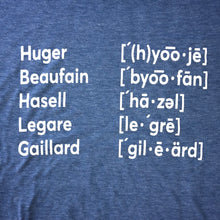 Load image into Gallery viewer, 843 Shop Pronunciations Tee - Light Blue (Unisex)