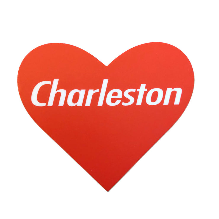 Charleston Red Heart Sticker