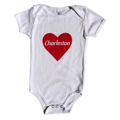 843 Shop Red Heart Baby Onesie - White 6-12 Months