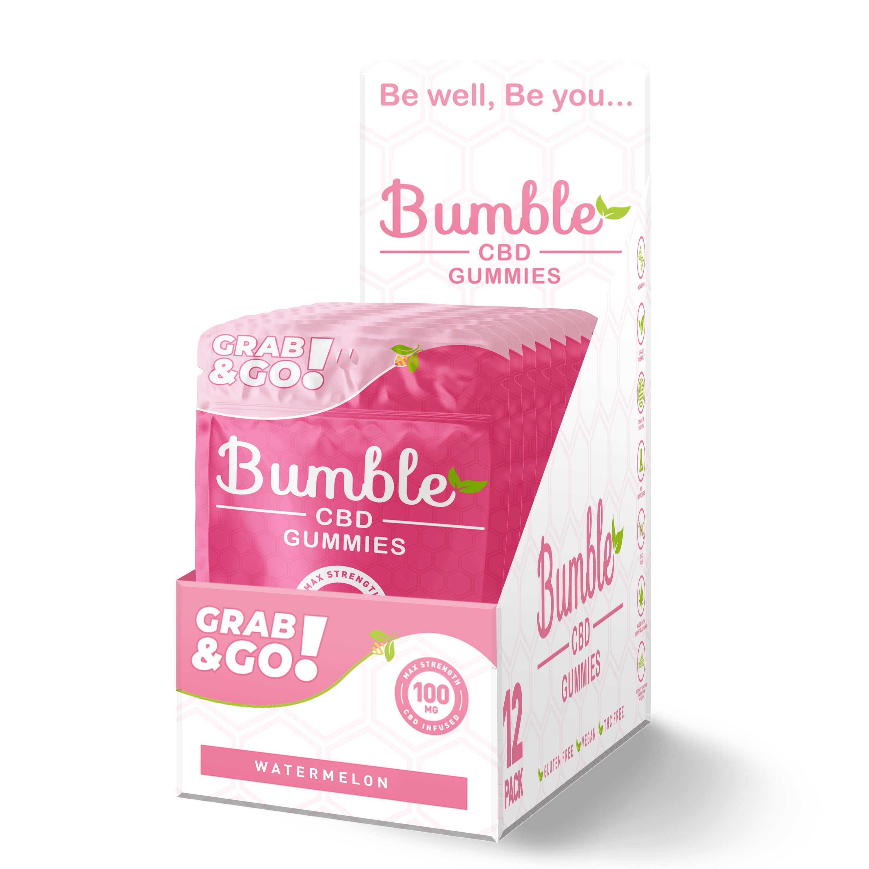 Bumble CBD 100mg Case 12 units  (4pcs)