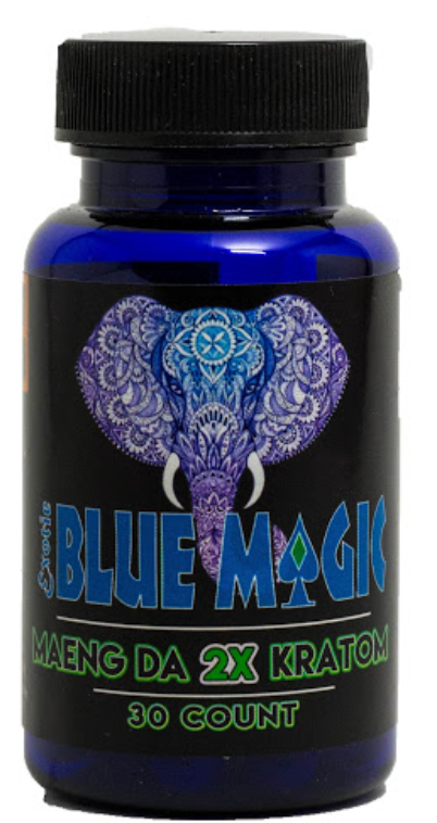 Blue Magic Kratom 2x 30 capsules ( Extract )