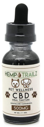 Hemp Trailz CBD Pet Oil Tincture 500mg