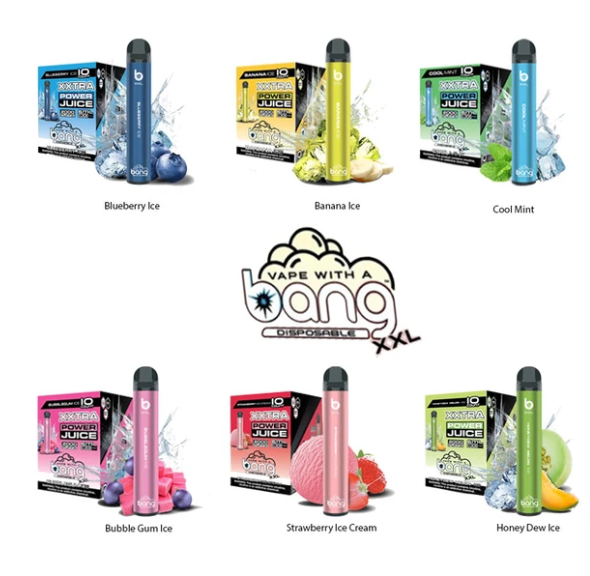 Bang XXL Disposables  (NEW 12CNT) 6% NIC 2,000 puffs (case of 12ct)
