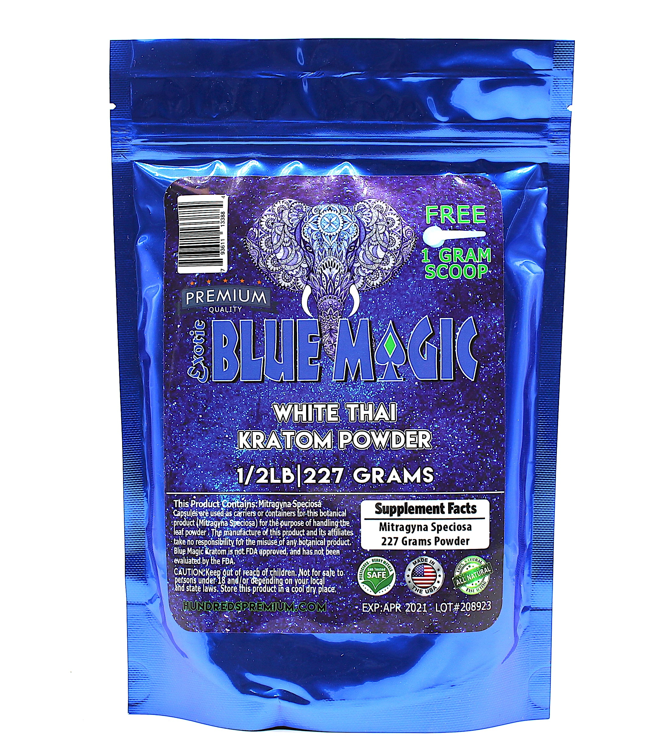 Blue Magic Kratom  Powder 1/2 lb
