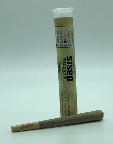 Botanical Oasis Pre-Roll 150mg Of CBD 1.5g king size (SELECT PIC FOR MORE OPTIONS)
