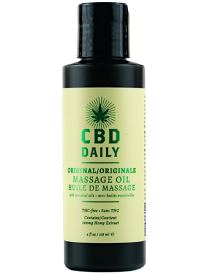 Earthly Body CBD Daily Original Massage Oil 4fl Oz