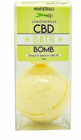 Hemp Trailz 1ct 25mg CBD Bath Bomb (SELECT PIC FOR MORE OPTIONS)