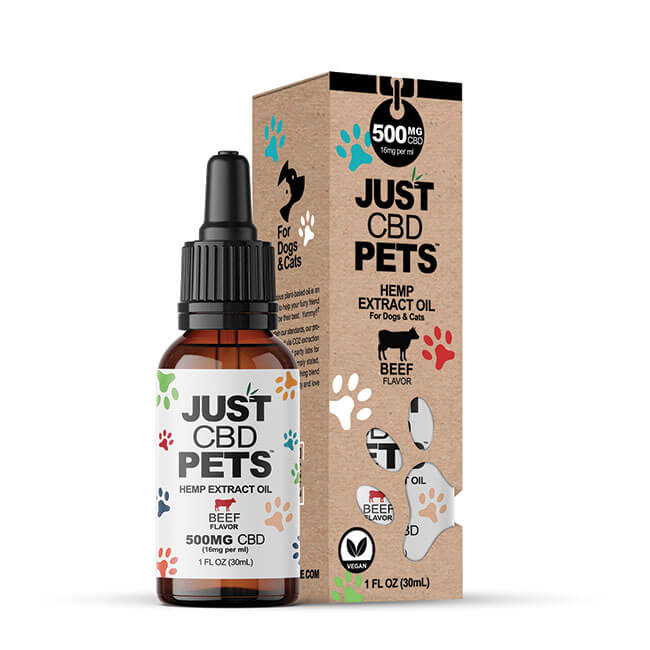 JUST CBD Pets Hemp Extract Oil 500mg