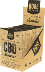 Kore Organic CBD Gummies 7ct per pack Display of 12 packs****