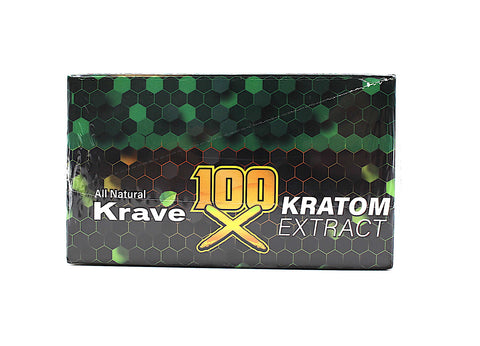 Krave - 100X Kratom Extract Liquid Shots ( 10 ML / 12 Shots Per Display )