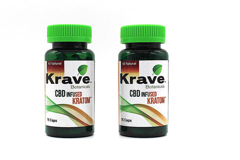 Krave  CBD Infused Kratom 75ct