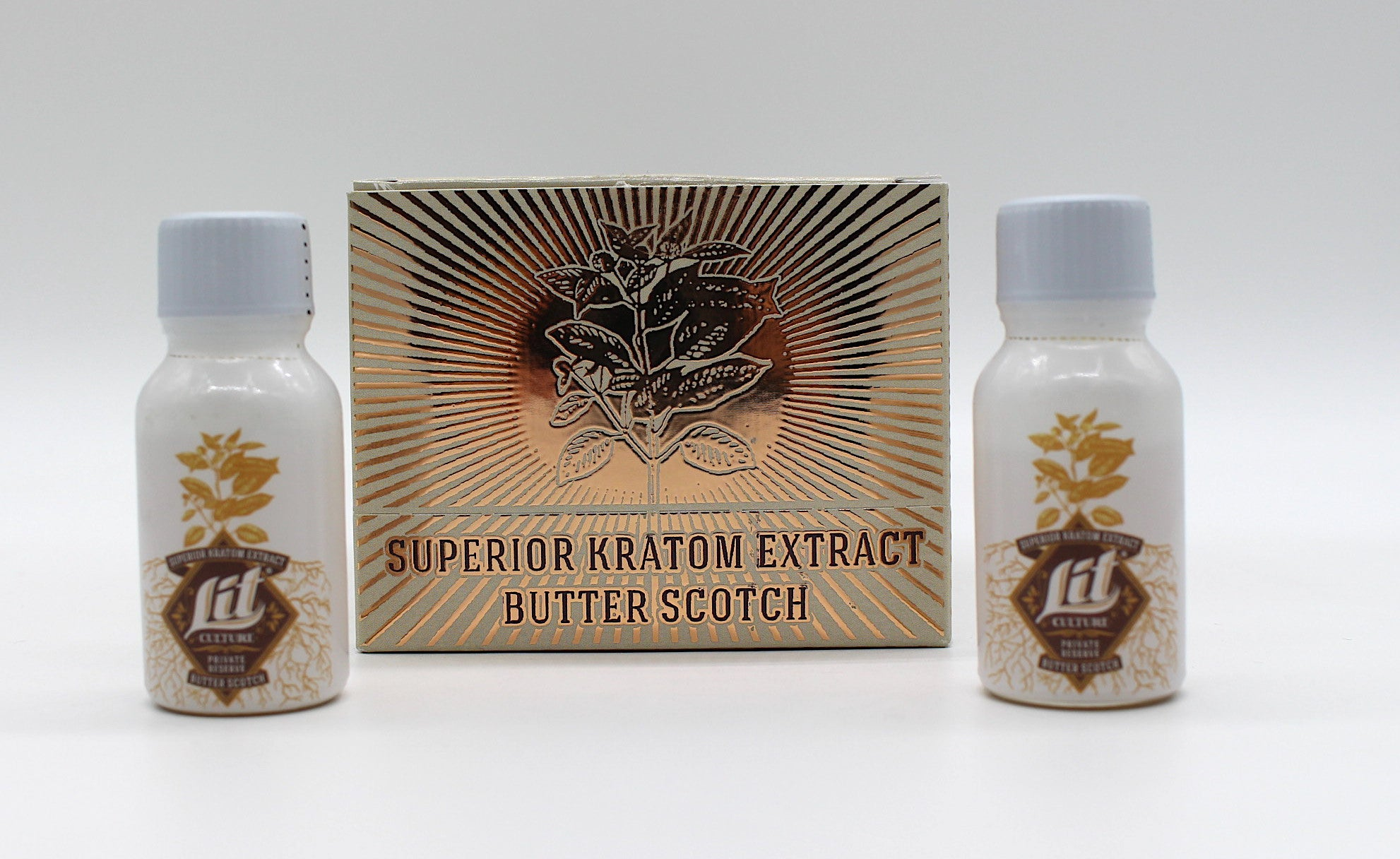 LIT Culture -  Butter Scotch Superior Kratom Extract ( 15 ML / Box of 12 )