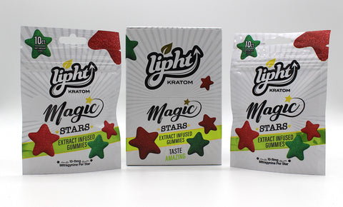 Lipht Kratom Magic Stars- Extract Infused Gummies