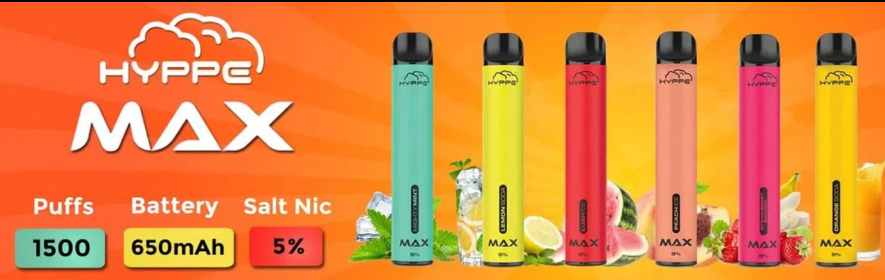 Hyppe Max - 1500 Puffs 5ML with 5% NIC ( Display of 10 )