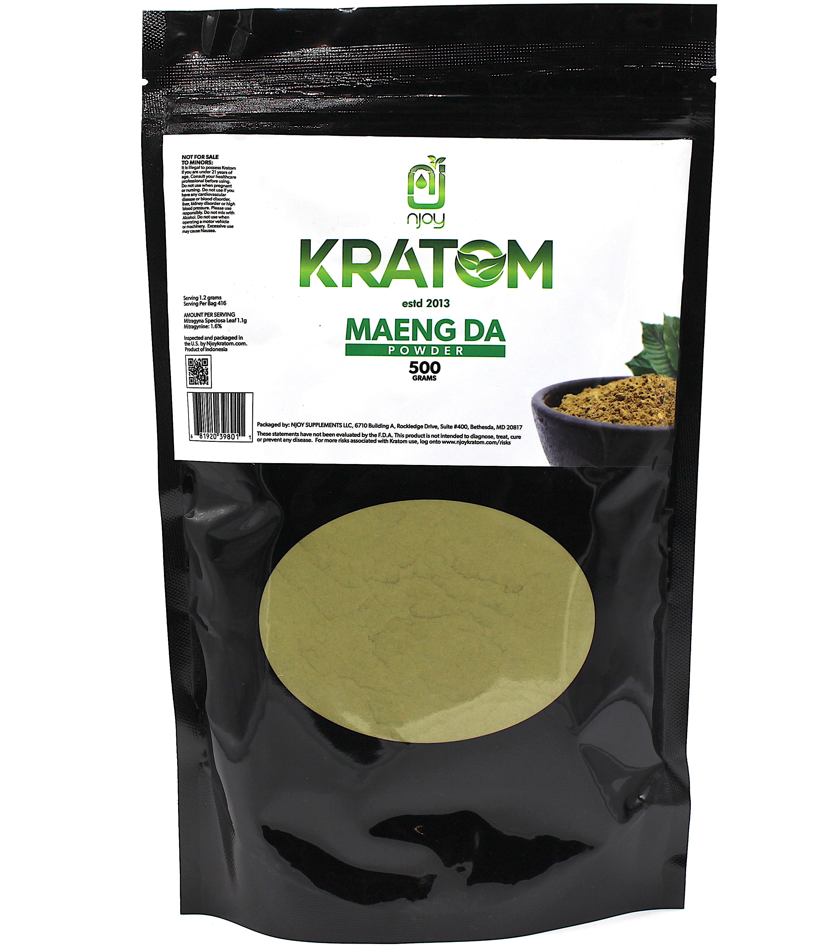 NJOY KRATOM 500G Powder ((SELECT PIC FOR MORE))