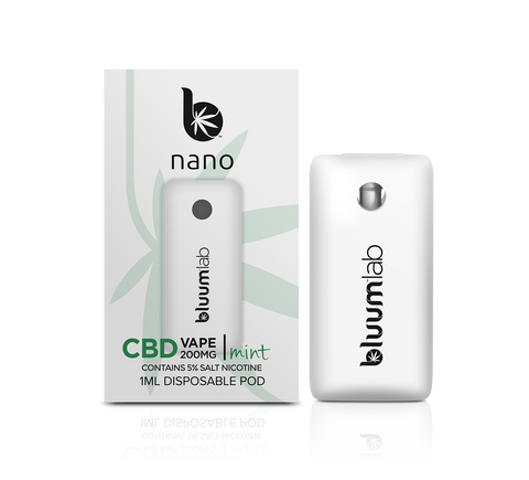 bluumlab nano Pod CBD vape 200mg Single or CASE