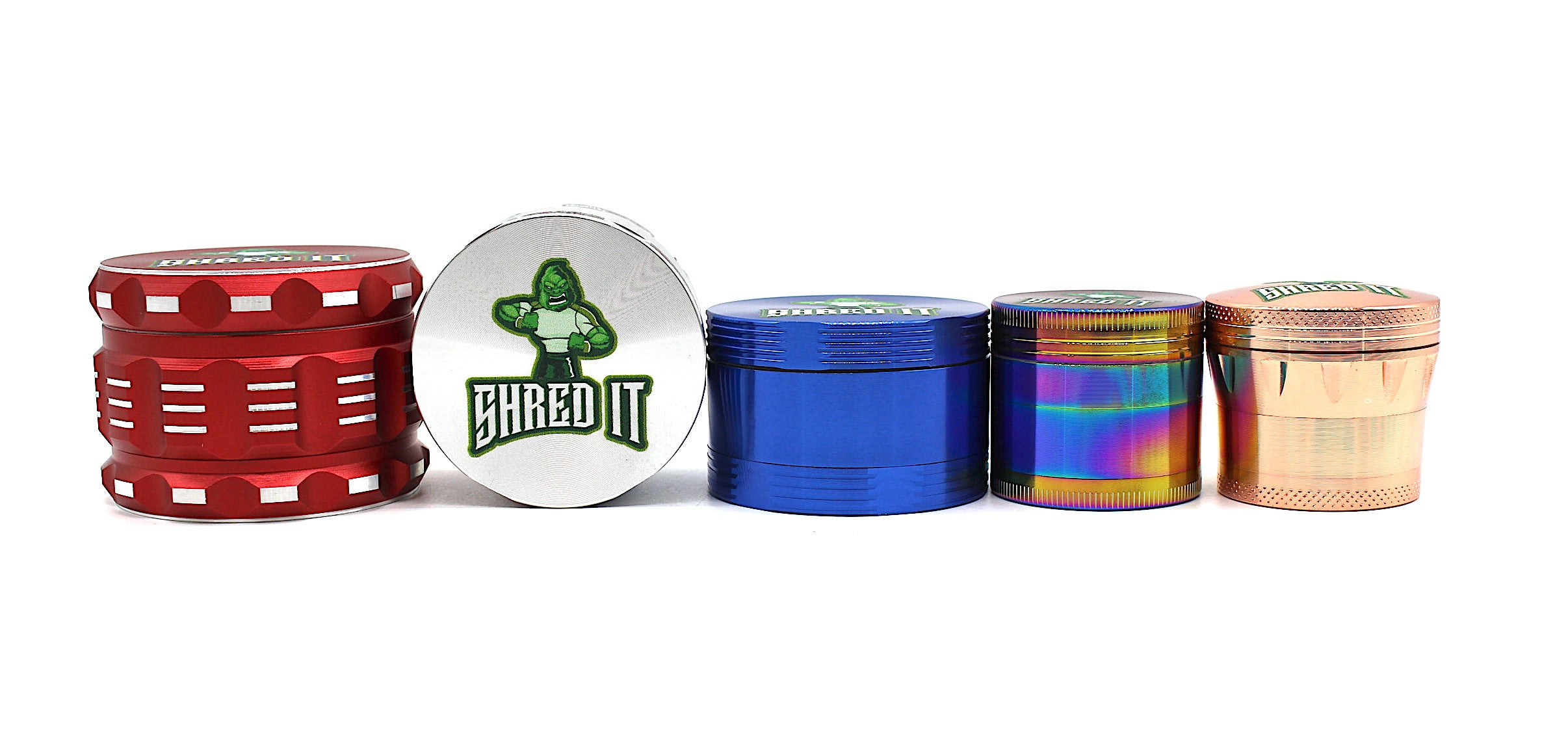 SHRED IT - 4 Piece Metal Grinder ( Different Sizes and Different Colors )