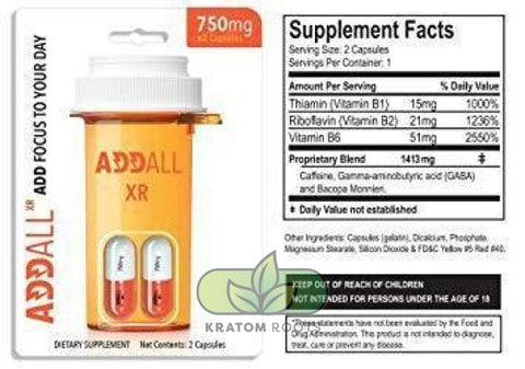 Addall Xr 2Cnt Capsule 12 Per Case Energy Supplement
