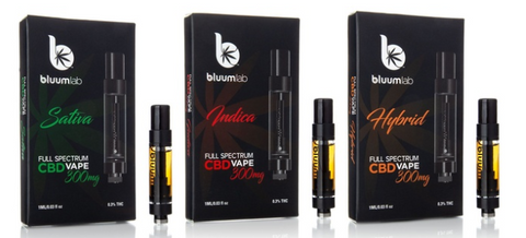 Bluum Lab Full Spectrum 300mg CBD Vape Cartridges