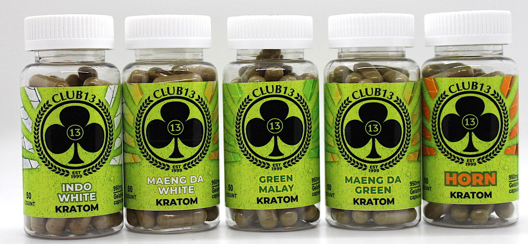 Club13 Kratom 50ct Jumbo Capsules (SELECT PIC FOR MORE OPTIONS)