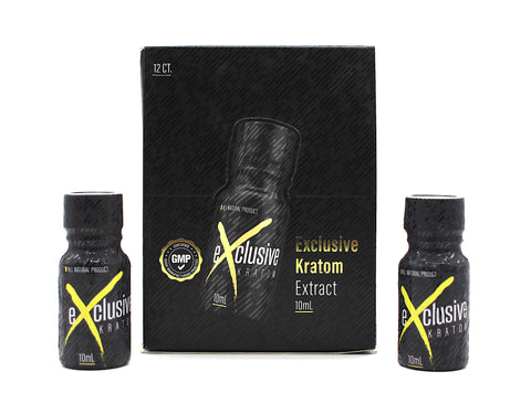 Exclusive Kratom Extract Dsiplay of  12ct