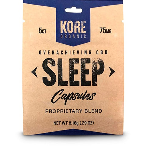 Kore Organic CBD Capsules (5ct) - Sleep/Focus 15mg/75mg (case 12PK)