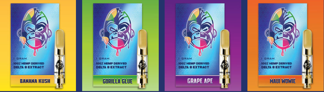 Delta Ape - Delta 8 1G Extract Cartridges