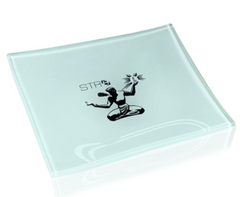 STR8 SHATTER RESISTANT GLASS ROLLING TRAY