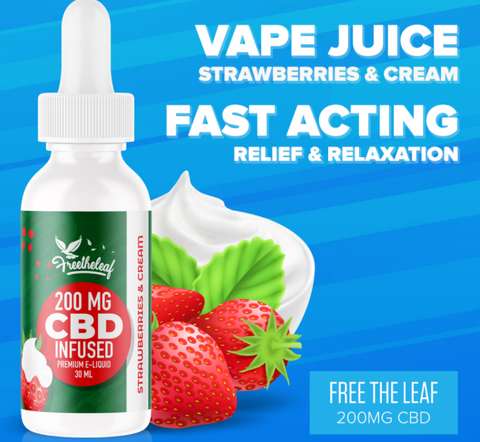 Free The Leaf CBD Premiuem E-Liquid 30 ML