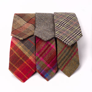 Tweed Ties - Pink Islay Tweed (Bottom Centre)