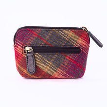Load image into Gallery viewer, Tweed and Leather Coin Purse