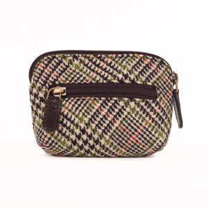 Tweed and Leather Coin Purse