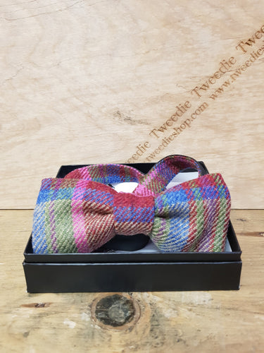 Tweed Bow Ties, Multi Pink