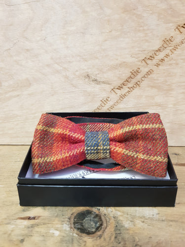 Tweed Bow Ties, Glen Red