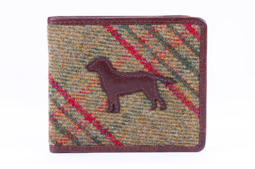 Applique Wallet, Classic Green Islay Tweed, Dog