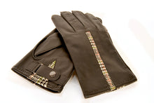 Load image into Gallery viewer, Torridon Gloves -  Classic Green Islay Tweed and Brown Leather