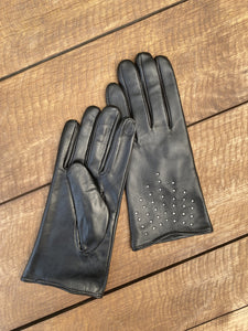 Katrine Classic Studded Leather Gloves