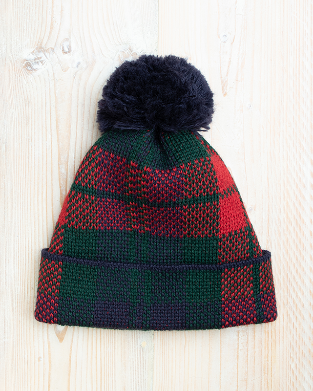 Lindsey & Campbell British Hat with PomPom