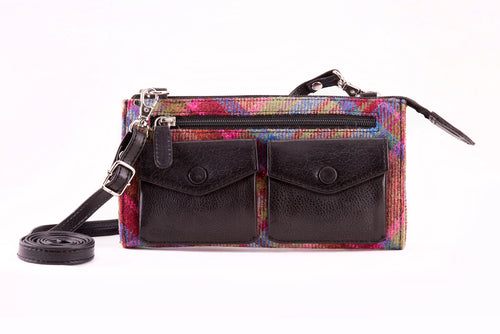 Ricky Bag Pink Tweed & Black Leather