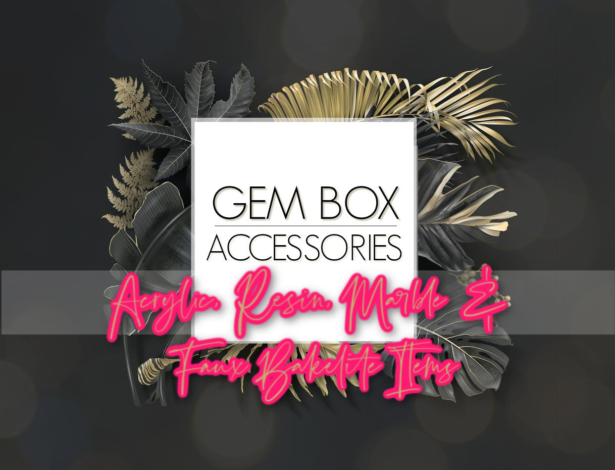 Paparazzi Jewelry | Acrylic, Resin, Marble & Faux Bakelite Items | Gem Box Accessories