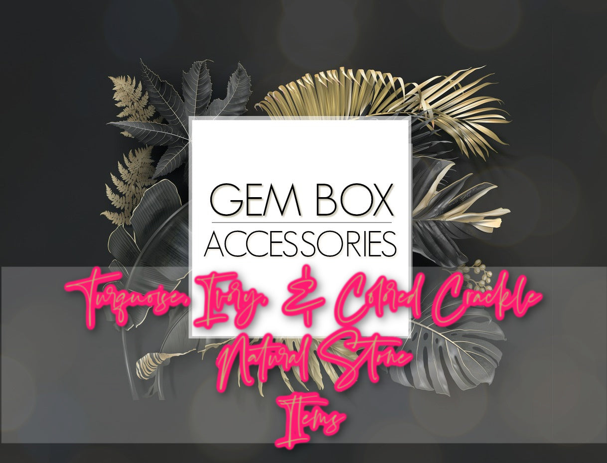 "Paparazzi Jewelry | Turquoise, Ivory, & Colored ""Crackle"" Natural Stone Items 