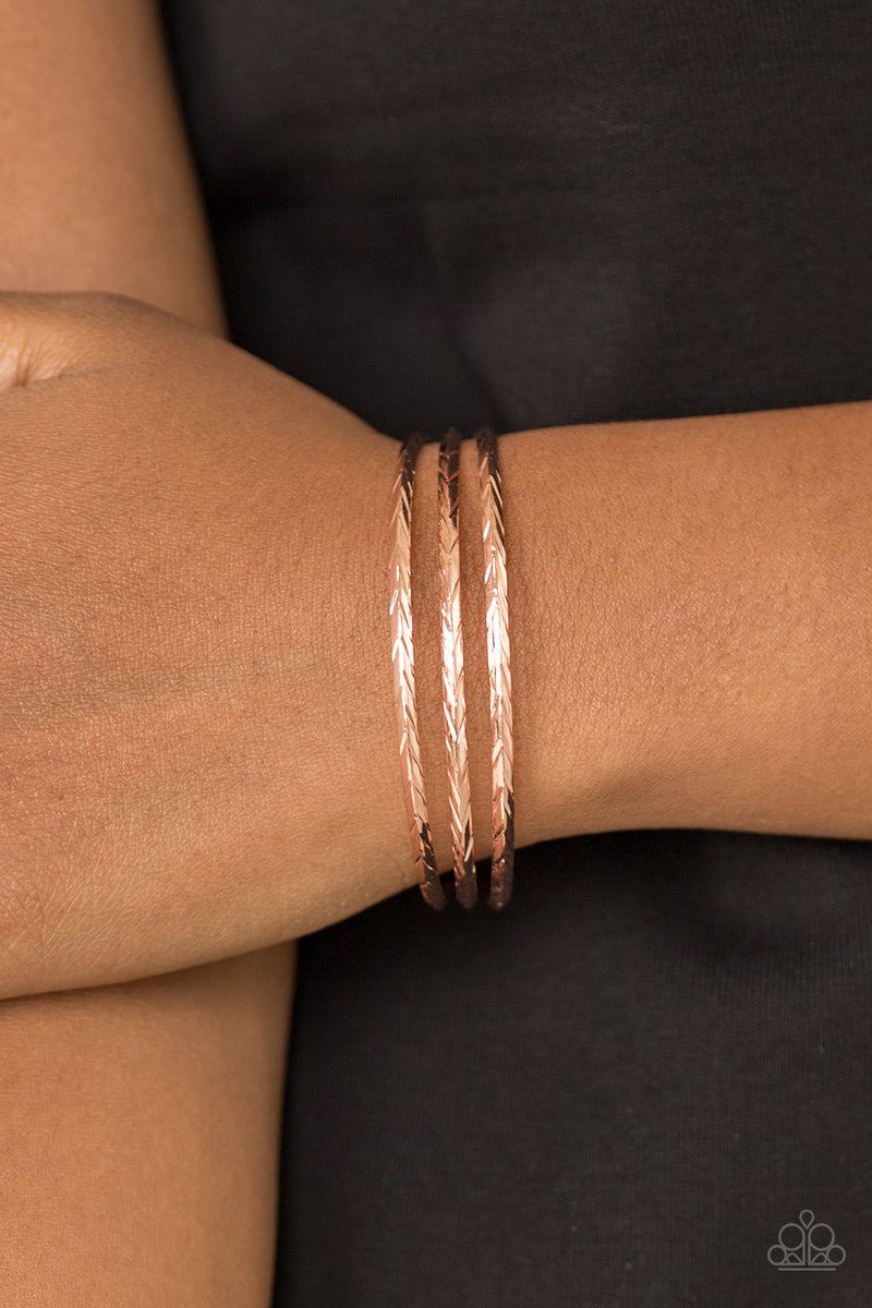 Paparazzi Eastern Empire - Copper Bracelet
