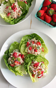 Strawberry-Poppy-Seed-Chicken-Salad-lettuce wraps
